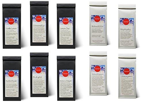 10 x 50 g - Wintertee - Weihnachtstee - Teegeschenk - Tee Set mit 10 verschiedenen Tee Sorten - Insgesamt 500 g Tee