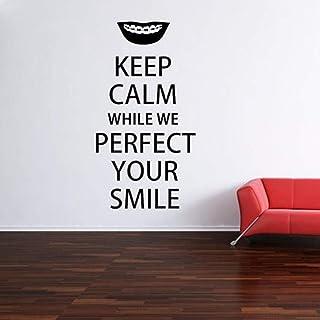 Gardez le calme Dentiste Soins Dentaires Sticker Dentiste Bureau Mur Fenêtre Autocollant À La Maison Amovible Art Mural 10...