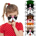 9pcs/Pack Kids Dustproof Windproof Cotton Face_Covers Bandanas For Kids,Cute Cartoon Printed Face_Masks With Adjustable Ear Loop Safety Face Health Protections Breathable Reusable for Toddlers Outdoor