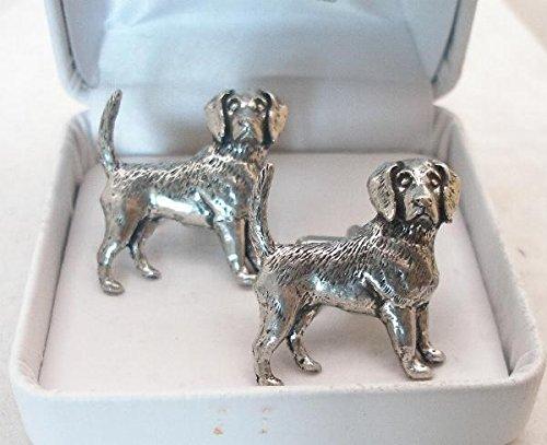 Boutons de Manchette Beagle (chien) avec Boîte à Cadeau