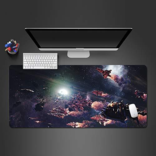 ZNNBH Geschwindigkeit Locking Rand Große 900x400mm Natürliche Gummi Maus Pad Space Shuttle Wasserdicht Spiel Schreibtisch Mauspad Tastatur Matte computer spiel tablet mousepad