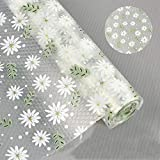 Patty Both Drawer Liners Cupboard Liners Non Adhesive Shelf Liners for Kitchen Tool Box Bedroom Refrigerator(12in9.8ft, Clear Daisy)