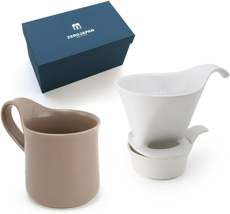 ZEROJAPAN Gift Set Coffee Dripper L & Cafe Mug Oolong Tea ZG-007 OOG (japan import)