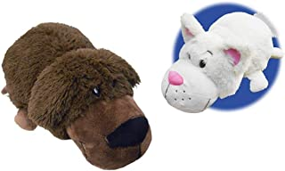 FlipaZoo NEW!!! The 16 Pillow with 2 Sides of Fun for Everyone - Each Huggable FlipaZoo character is Two Wonderful Collectibles in One (Bradley Labrador/Rachel Cat) by FlipaZoo