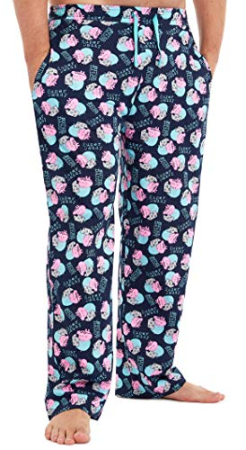 Peppa Pig Hose Herren, Schlafanzughose Lang, Pyjama Herren mit Peppa Wutz, 100{b7a1ac376e5dc09e76b2975554755aab417c89be392fa47609d0d616e6d83e34} Baumwolle Freizeithose Herren Jungen Teenager, Lustige Geschenke für Männer (M)