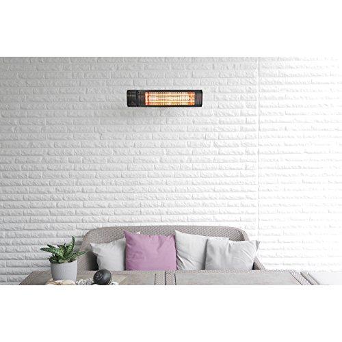 VASNER Infrarot Heizstrahler Appino 20 schwarz, 2000 Watt, Terrassenstrahler mit AirCape Abdeckhaube für Außenbereich, Fernbedienung, App-Bedienung - 5