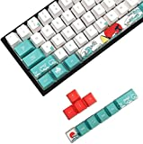 MEILEQI Set de Teclas de Regalo Set KeyCap Dye Sublimation Japón Manga Alfombrilla de ratón para GK61 108 Interruptores de Cereza Teclado mecánico Lindo Simple (Color : Only keycaps)