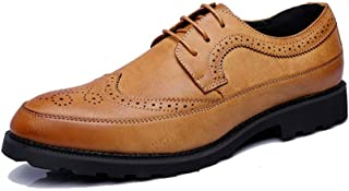 Sygjal Men's Business Oxford Casual Fashion Classic Comfortable Non-slip Carving Brogue Shoes Fashion (Color : Blue, Size : 44 EU)