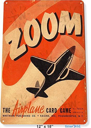 TIN SIGN Zoom Retro Vliegtuig Kaarten Luchtvaart Metalen Muurdecoratie Game Store A944 Metalen Tin Teken 8X12 Inch