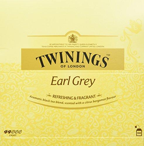 Twinings Earl Grey - Schwarzer Tee im Teebeutel verfeinert mit Bergamotte-Aroma - erfrischender Schwarztee aus China, 200 g
