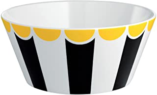 Alessi Bowl in Decorated Bone China, Stainless Steel Multi-Colour, 16 x 16 x 17 cm
