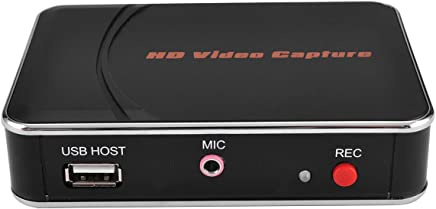 Y&H HDMI Game Capture Card,Full HD 1080P Video Recording,USB Game Capture,for Xbox 360/Xbox One/PS4/Wii U and Nintendo Switch,Support Mic in