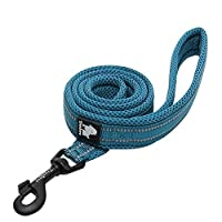 PADDED SOFT MESH - Wide Soft Mesh Padding and Ergonomic Design make this Dog Leash Extremely Comfortable for Both You and your Dog 3M REFLECTIVE MATERIAL - Nylon Webbing with 3M Reflective Material ensures Good Visibility and Safety at Night while Wa...