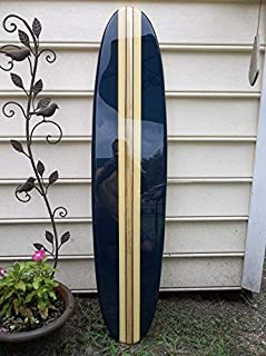 Surfboard wall hanging. Four foot decorative navy blue surfboard wall décor.