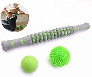 Bafeat Pro   Rodillo de masaje muscular palo con 2 pelotas
