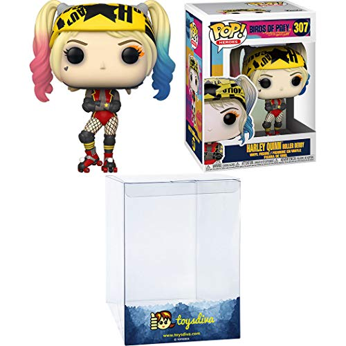 Harley Quinn [Roller Derby]: Funk o Pop! Heroes Vinyl Figure Bundle with 1 Compatible 'ToysDiva' Graphic Protector (307 - 44376 - B)