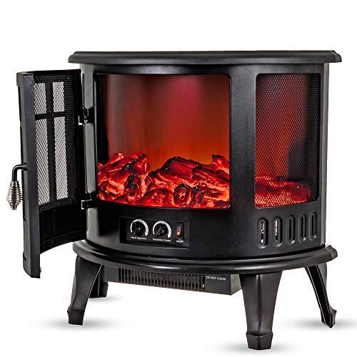LIVIVO Log Fire Effect Panoramic Heater 1800W