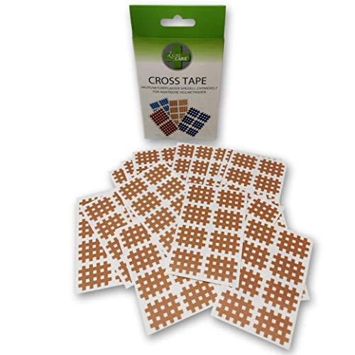 LisaCare Akupunktur Pflaster Haut-Fabe - 160x Gitterpflaster Typ a - Physio Tape Gitter - Cross Tape klein