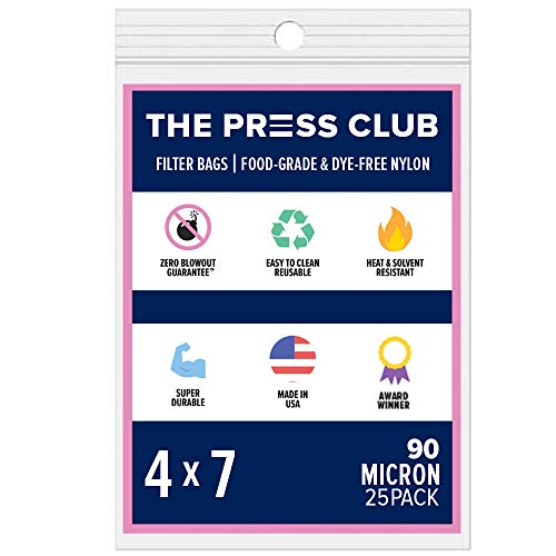 90 Micron | Premium Nylon Tea Filter Press Screen Bags | 4' x 7' | 25 Pack | Zero Blowout Guarantee | All Micron & Sizes Available