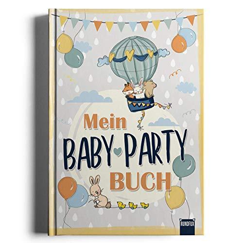 Mein Baby-Party Buch zur Geburt - Gästebuch zur Baby-Shower als tolle Erinnerung für Eltern und Kind - Rundfux