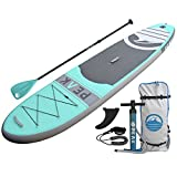 "Peak 10'6' All Around Inflatable Stand Up Paddle Board | 6"" Thick iSUP and Accessory Pack 