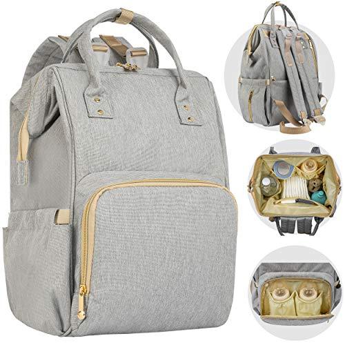 ONVAYA® Zaino fasciatoio grigio   Moderna borsa fasciatoio da viaggio   Zaino XXL   grande capacità   Zaino da viaggio