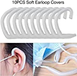 ジェルイヤープロテクションフックイヤーバッド10PCSシリコンイヤーループカバー柔らかく快適なイヤープロテクションフックイヤーバッドジェルホワイトエンジェルを保護するプロ仕様の耳の裏張りを低減