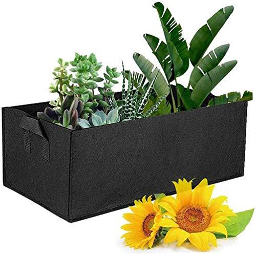 Ubaywey Bolsas rectangulares para plantas de jardín, de tela, con asas, para tomates, patatas, flores, fresas, plantas, crecimiento, bolsas de balcón, bolsas de cultivo de pared
