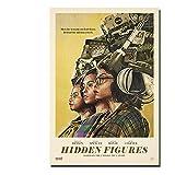 Zplbdw Poster Versteckte Figuren Kevin Costner Film Wand