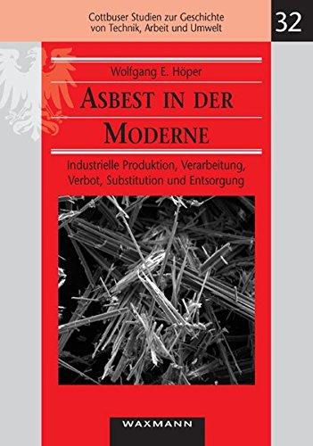 Asbest in der Moderne: Industrielle Produktion, Verarbeitung, Verbot, Substitution und Entsorgung (Cottbuser Studien zur Geschichte von Technik, Arbeit und Umwelt)
