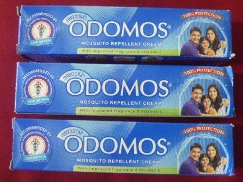 Dabur 3 Advanced Odomos Repelente de Mosquitos Crema 50g x 3= 150g por Odomos
