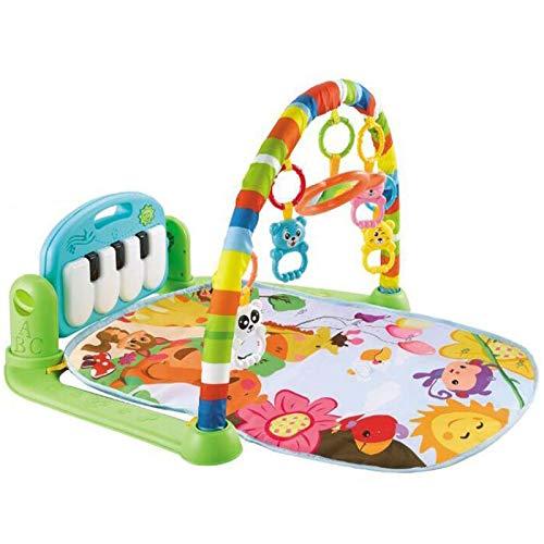 GUOSHUFANG Rainforest Speeldeken met draaibare en afneembare piano belevenisdeken met light, babygym met speelboog en espejo, kruipdeken voor Baby's Vanaf 0 maanden.