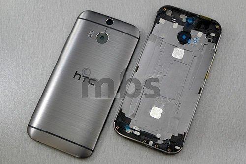 Akkudeckel für HTC One M8 Akku Deckel Back Cover Gehäuse Abdeckung Rahmen Metal Anthrazit Grau