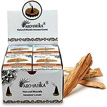 ARO VATIKA Vedic Sandalwood Natural Masala Incense 120 Cones in Pack of 12 Boxes
