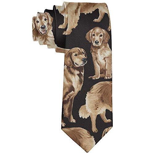 Cravatta in poliestere da uomo 'S Skinny Tie Golden Retriever', regalo per sposo, Groomsmen, papà