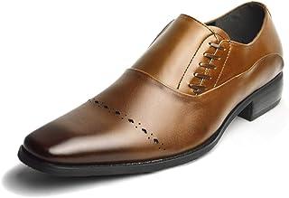 [ネロ コルサロ] 本革 日本製 ビジネスシューズ 革靴 紳士靴 メンズ スリッポン サイドレース