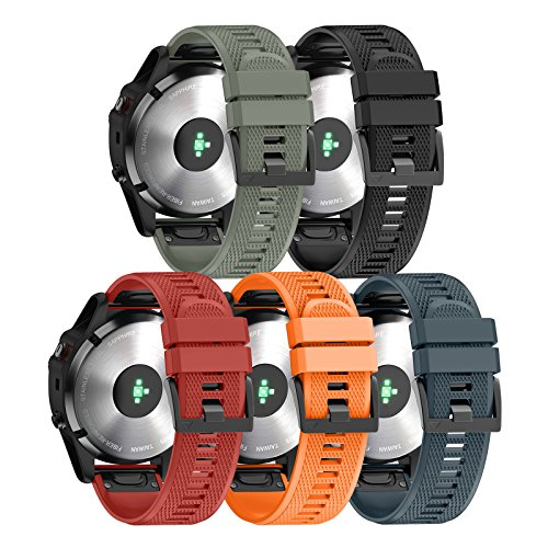 Review Of ANCOOL Compatible with Fenix 5 Band Easy Fit 22mm Width Soft Silicone Watch Bands Replacem...