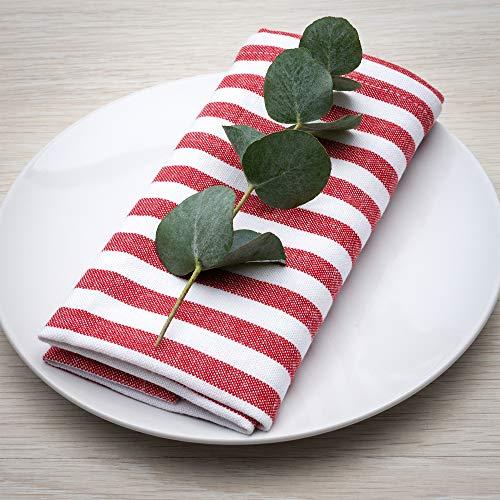 FILU Juego de 8 servilletas de tela de alta calidad con diseño...