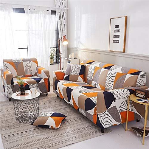 Funda de sofá elástica Moderna para Sala de Estar Fundas de sofá Envoltura Ajustada Funda de sofá Todo Incluido Protector de Muebles A23 4 plazas