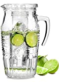 The Glass Carafe With Ice Compartment, Carafe Filling Capacity Of 1.6 Litres, Keeps Drinks Cool Without Becoming Watered Down, The Glass Relief Adopts A Romantic European Pattern
