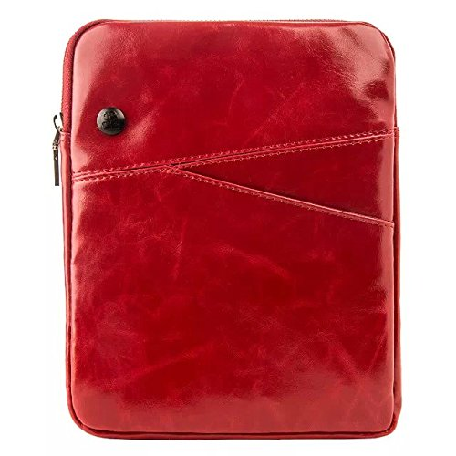 Fashionable Crossbody Purse Bag, Messenger Bag for all iPad mini,7in Amazon Kindle Fire Tablets and Tablets Upto 7 Inch, Red