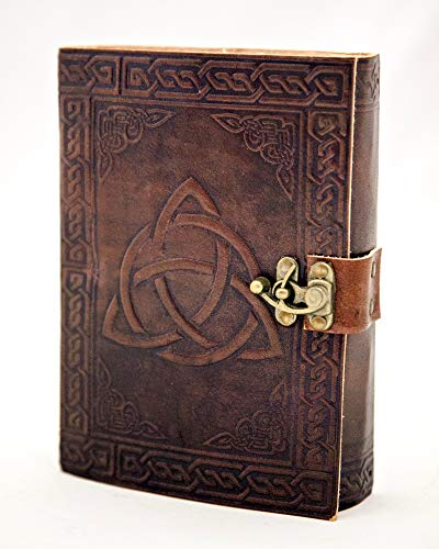 Leather Journal Triquetra Writing Notebook Trinity Travel Journal Celtic Leather Notebook Art Sketchbook Brown 5 x 7 inches