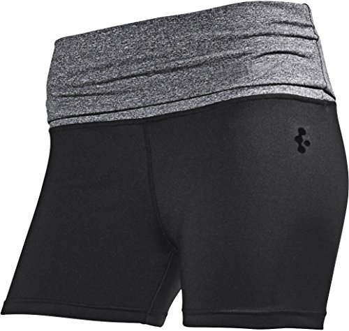Golden Lutz CRIVIT ® Damen Funktionspanty Hotpants (schwarz/grau, Gr. M 40/42)