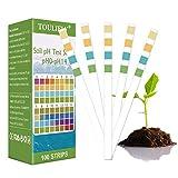 Toulifly Testeur de Sol,Analyse Sol,Testeur pH Sol,pH Sol Testeur,Kit Analyse Sol,pH Soil Test Kit,Kit de Tests pH pour Analyse des Sols (0-14) pour des Fleurs, Une Pelouse, des Plantes,(100 Bandes)