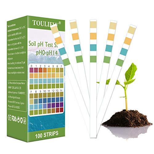 Teststreifen Boden pH Wert,pH Wert Boden,pH Teststreifen Boden,pH Messgerät Boden,Boden pH Wert,Boden pH Teststreifen,0-14 PH Pflanze Tester für Pflanzenerde,Gartenbau(100 Streifen)
