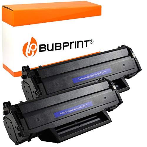 2 Bubprint Toner kompatibel für Samsung MLT-D111S für Xpress M2020 M2020W M2021W M2022 M2022W M2026 M2026W M2070 M2070F M2070FW M2070W M2078W Schwarz