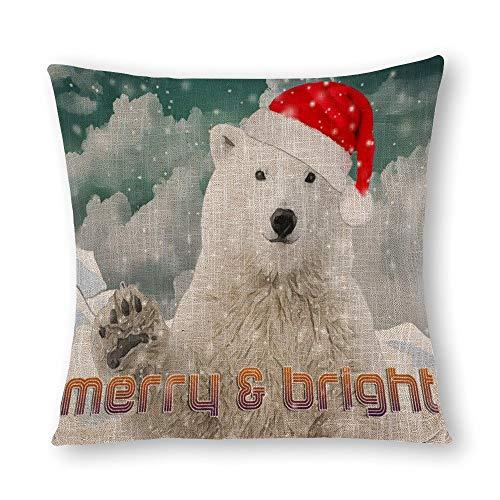 Oso polar de Papá Noel | Beary funda de almohada de Navidad