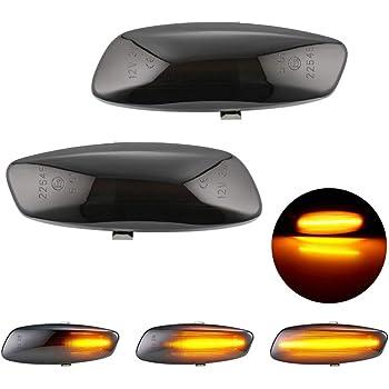 Nrpfell 2Pcs Voiture LED C?t/é Lat/éRal Dynamique Clignotant Clignotant Lumi/èRe pour X5 E70 X6 E71 E72 X3 F25 Transparent