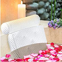 Luxury Bath Pillow for Bathtub - Bath Pillows for Tub Neck and Back Support - Spa Pillow for Bathtub - 4D Air Mesh Bath Pillow with Suction Cups - Hot Tub and Bath Tub Pillow Headrest - Fits all Tubs