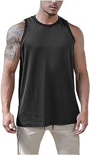 Ackful Men's Summer Casual Sport Patchwork Sleeveless Sport T-Shirt Top Vest Blouse